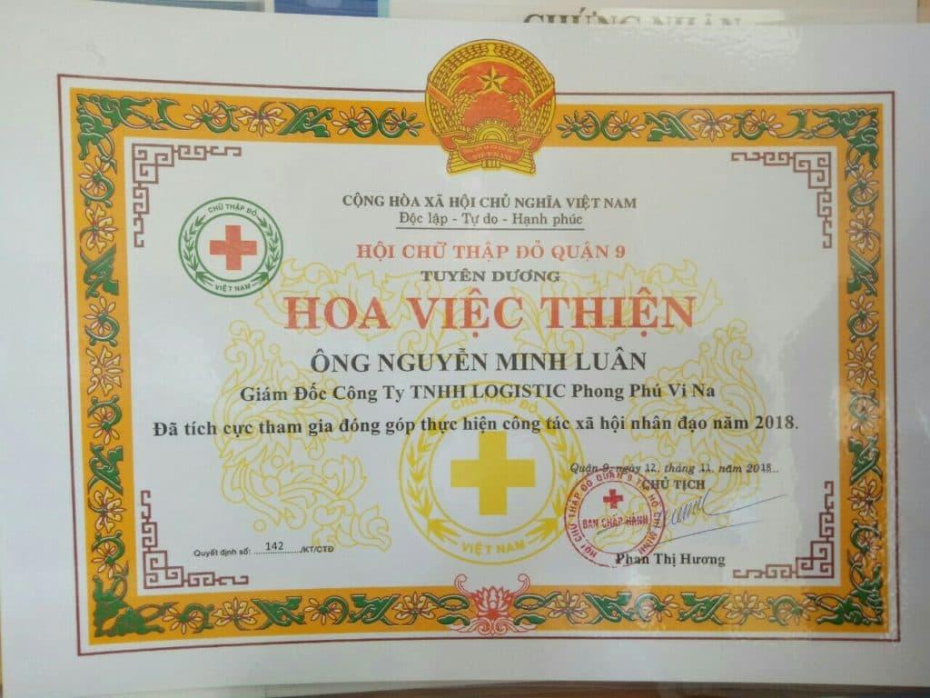 Tuyên Dương Hoa Việc Thiện Hội Chữ Tập Đỏ Quận 9